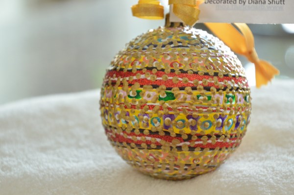 ShatterProof Striped Ball ornament